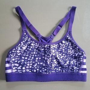 Champion DuoDry Purple Camo Stripe Sports Bra sz M